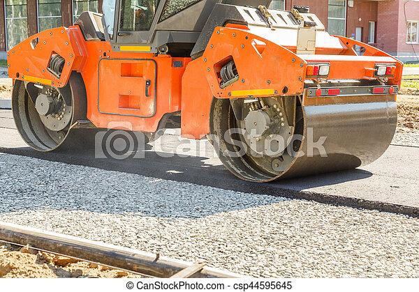 Road roller - csp44595645