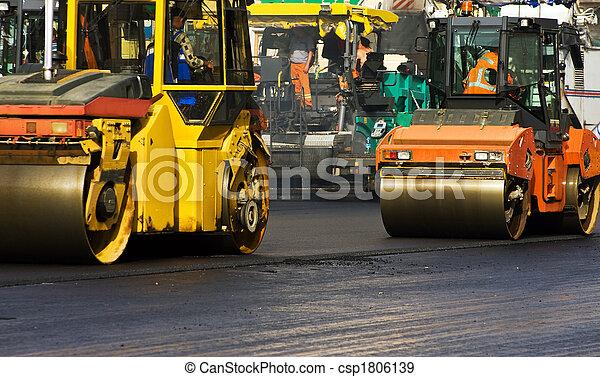 Road roller - csp1806139