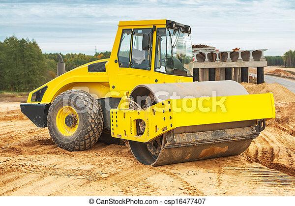 road roller - csp16477407