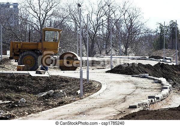 Road roller - csp1785240