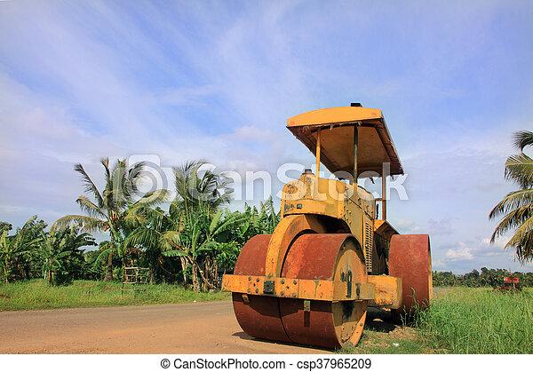 Road roller - csp37965209