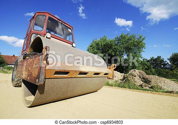 Road roller - csp6934803