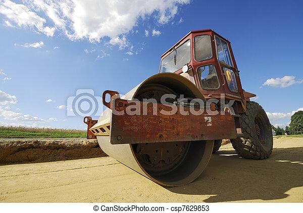 Road roller - csp7629853