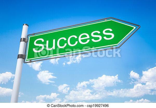 road sign arrow success - csp19927496