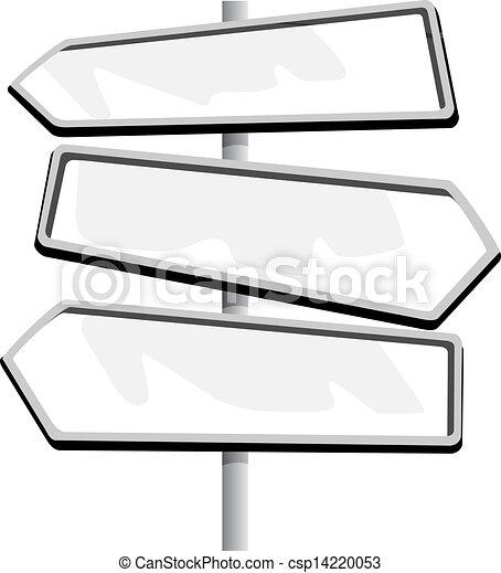 Road sign  - csp14220053