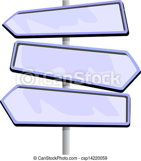 Road sign  - csp14220059