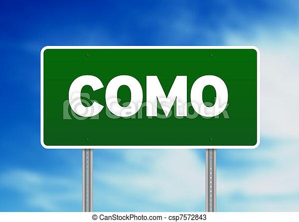 Road Sign - Como, Italy - csp7572843