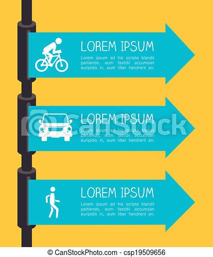 Road sign design - csp19509656
