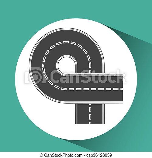 road sign design  - csp36128059