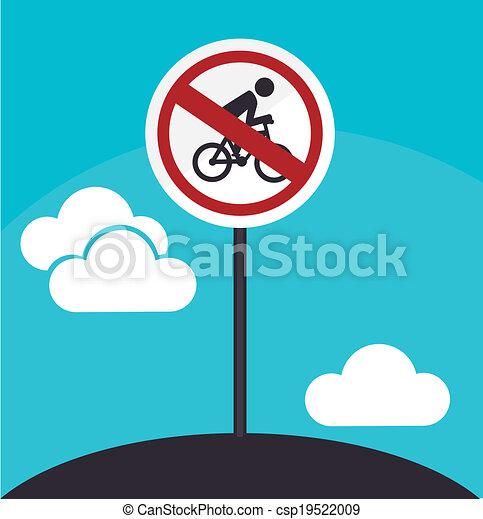 Road sign design - csp19522009