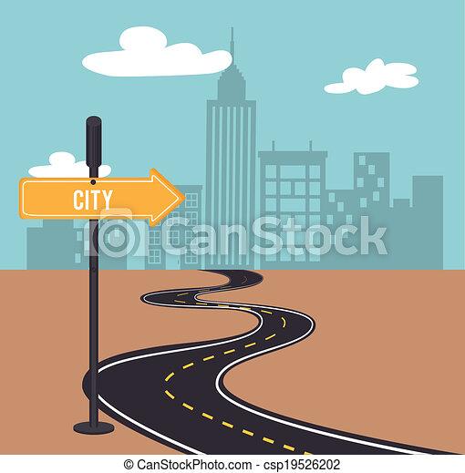Road sign design - csp19526202