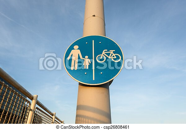 Road sign for bikes - csp26808461