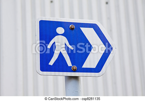 Road sign for pedestrian - csp8281135