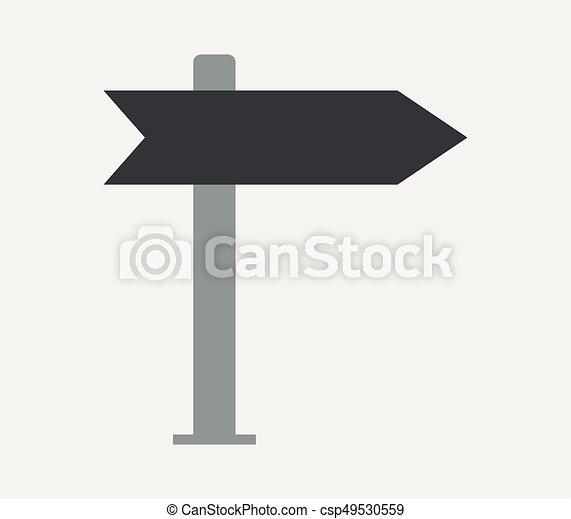 road sign icon - csp49530559