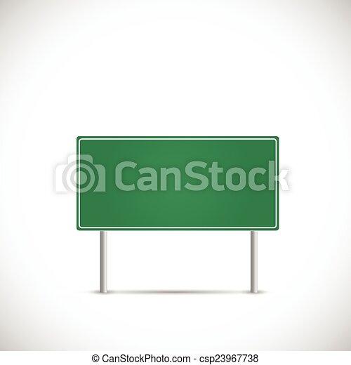 Road Sign Illustration - csp23967738