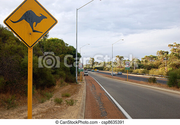 Road sign in Australia - csp8635391