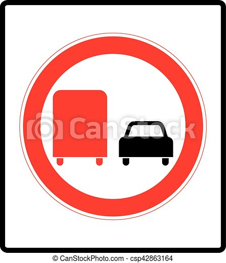 road sign prohibitory sign no overtaking by heavy goods vehicles rh canstockphoto com traffic clip art images traffic clipart gif