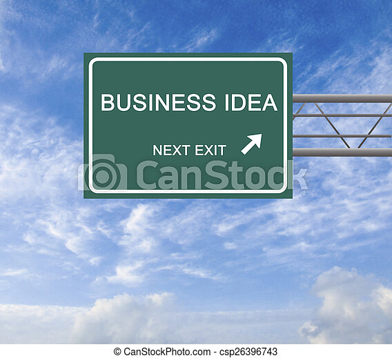 Road sign to business idea - csp26396743