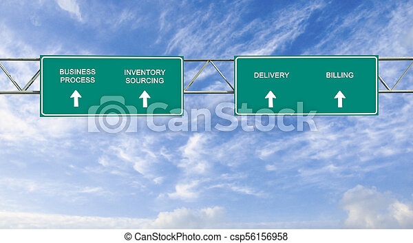 road sign to business process - csp56156958