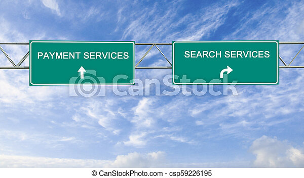 Road sign to e-business - csp59226195
