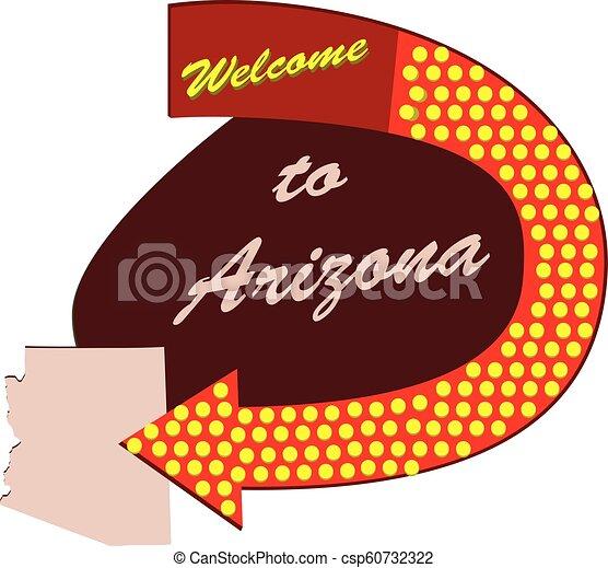 Road sign Welcome to Arizona - csp60732322
