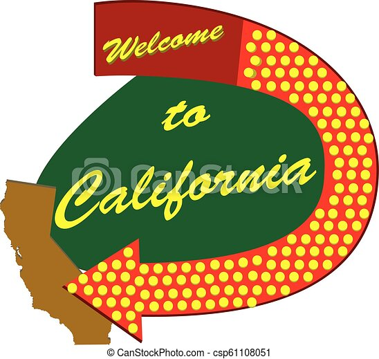 Road sign Welcome to California - csp61108051