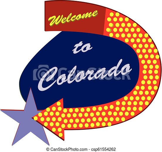 Road sign Welcome to Colorado - csp61554262