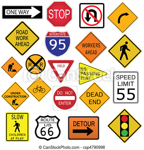 Road Signs Image Of Various Road Signs