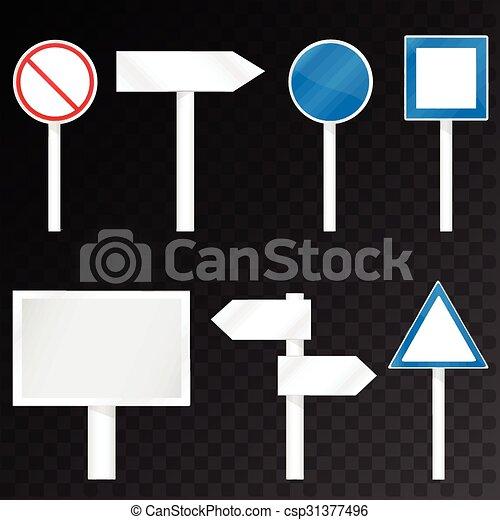 road signs set - csp31377496