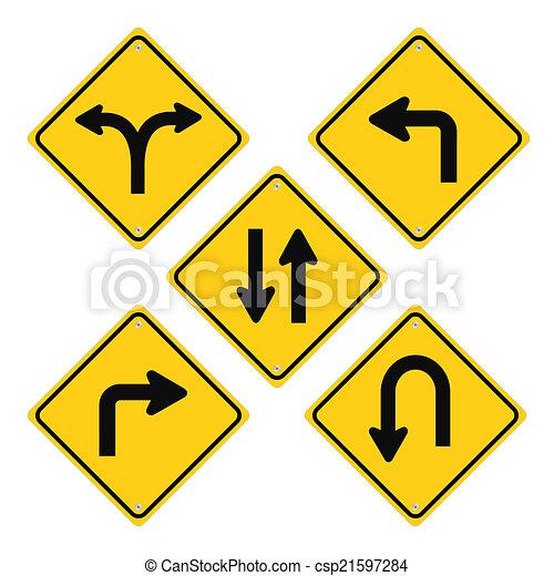 Road Signs Set - csp21597284