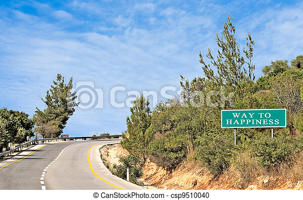 Road signs to happiness - csp9510040