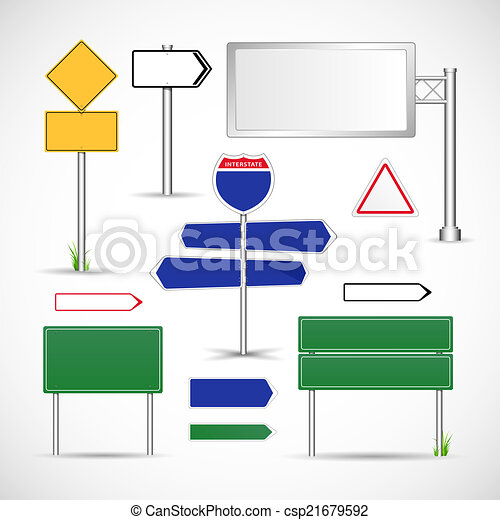 Road Signs Vector Template - csp21679592