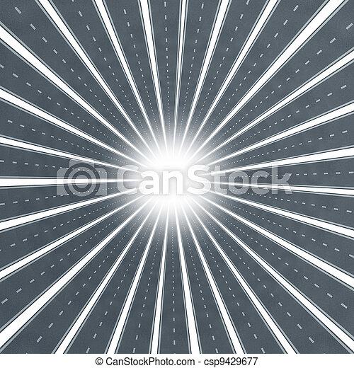 Road Star Burst - csp9429677