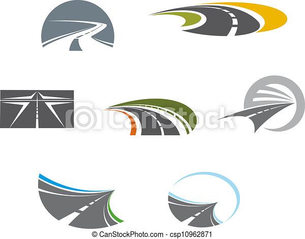Road symbols and pictograms - csp10962871