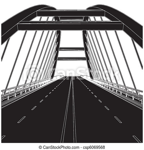 Road The Bridge - csp6069568