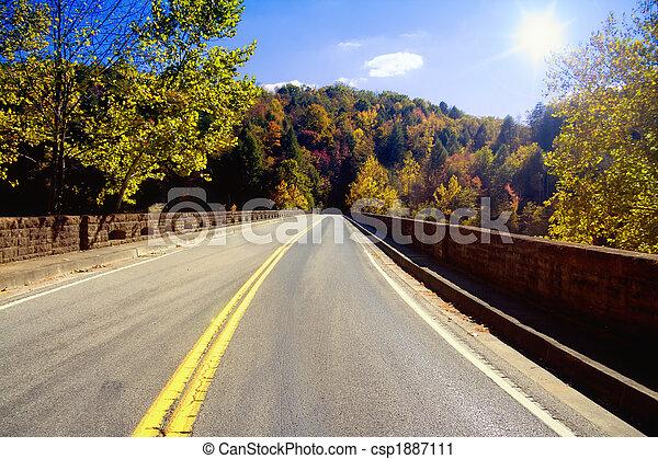 Road through Appalachians - csp1887111