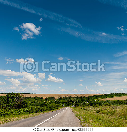 Road through the hills - csp38558925