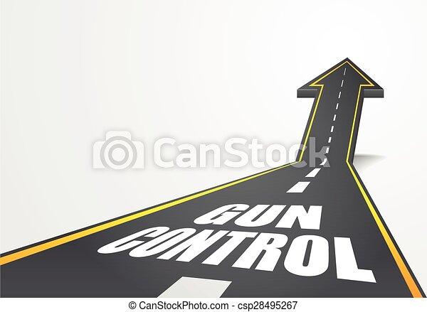 road to Gun Control - csp28495267