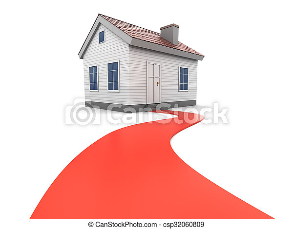 road to house - csp32060809