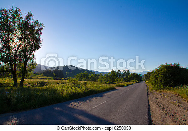 Road to Koprivshtitsa on sunset - csp10250030