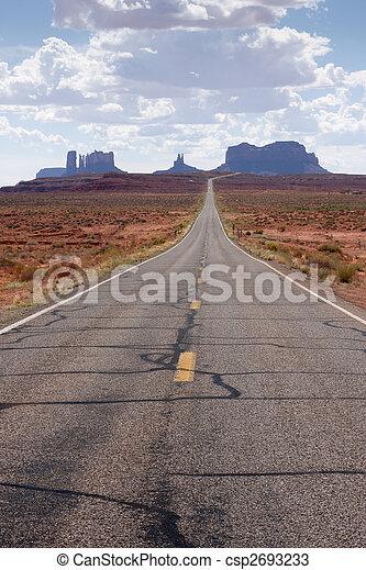 Road to Monument Valley, Arizona - csp2693233