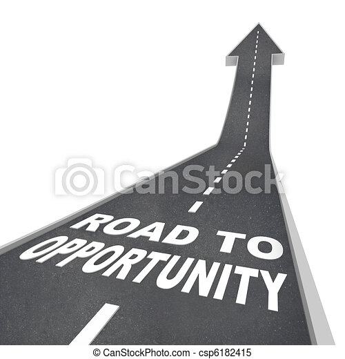 Road to Opportunity - Travel to Success and Growth - csp6182415
