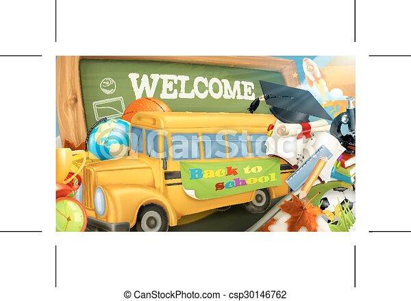 Road to school background - csp30146762
