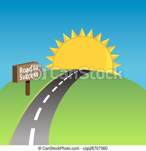 Road To Success Background - csp28707360