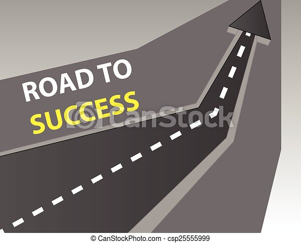 Road to success background - csp25555999