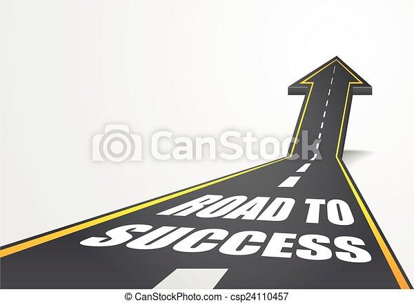 Road to Success - csp24110457
