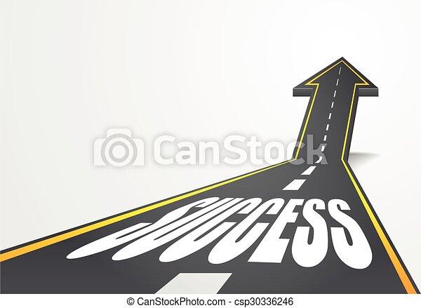 road to success - csp30336246