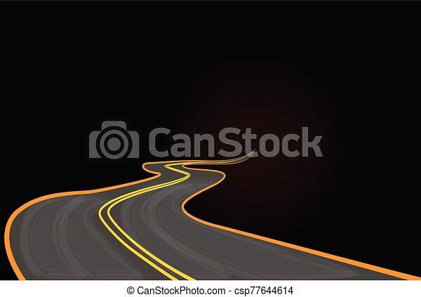 Road to success vector - csp77644614