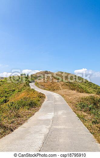 Road to the mountain - csp18795910