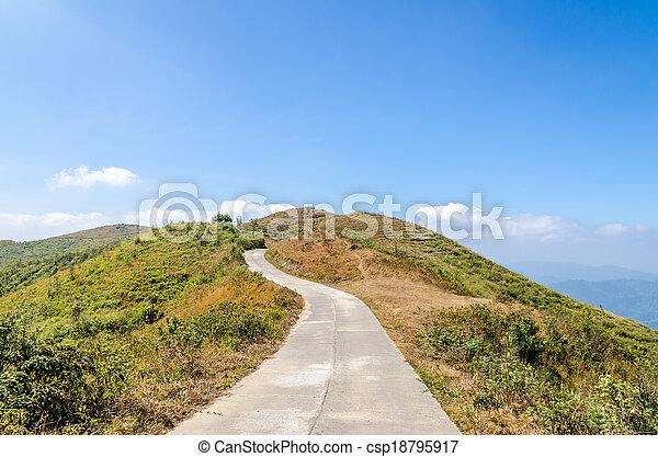 Road to the mountain - csp18795917